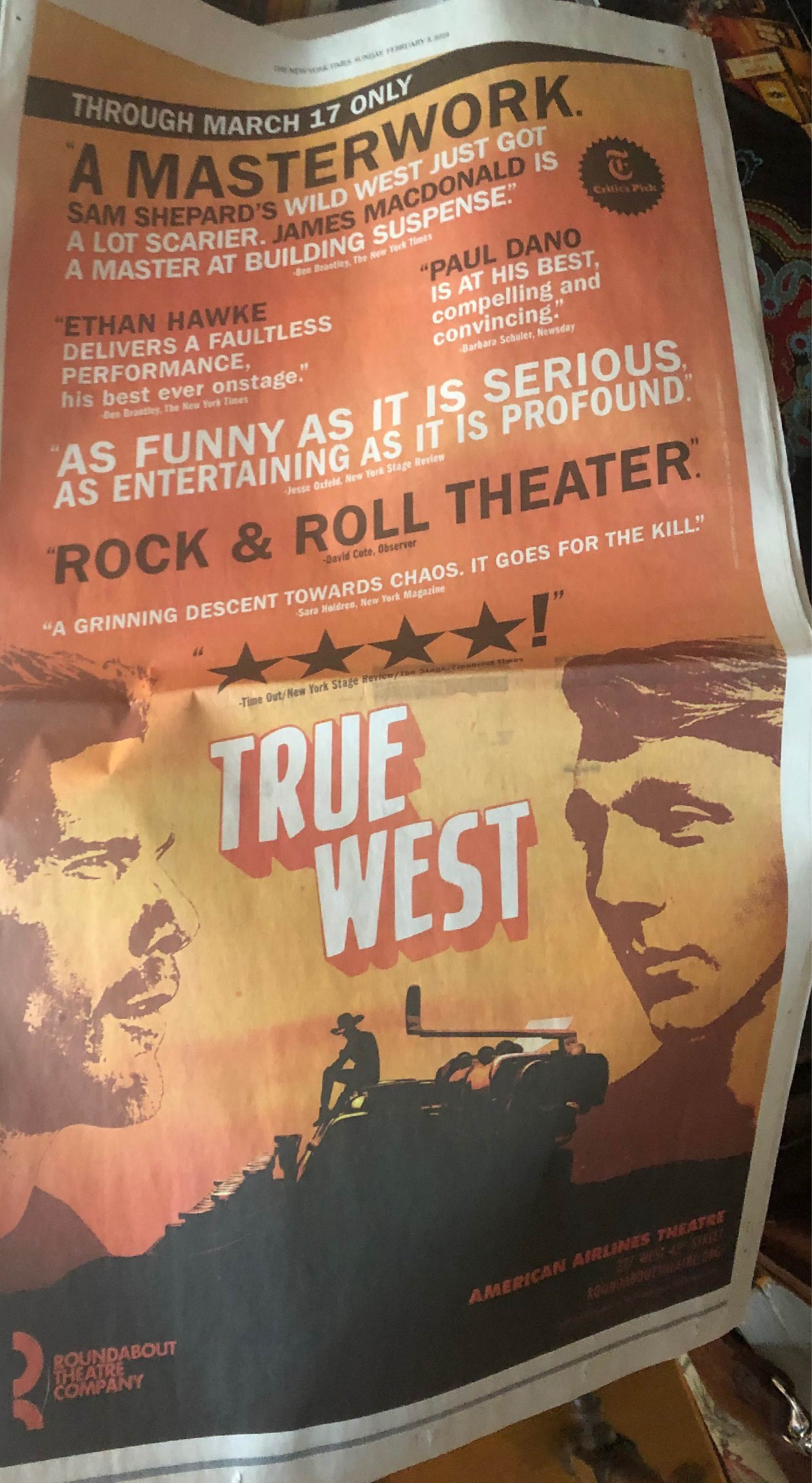 paper ad True West